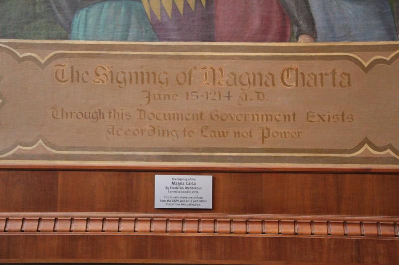 """Magna Carta"" Mural Detail"