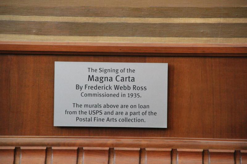 """Magna Carta"" Mural Placard"
