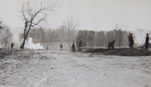 WPA workers working on the grounds of Baltimore National Cemetery
