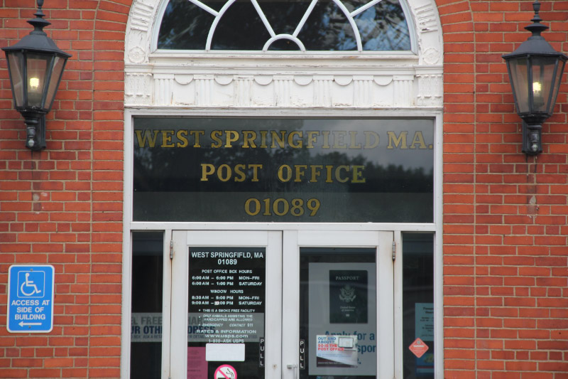 Post Office Entrance, West Springfield, MA