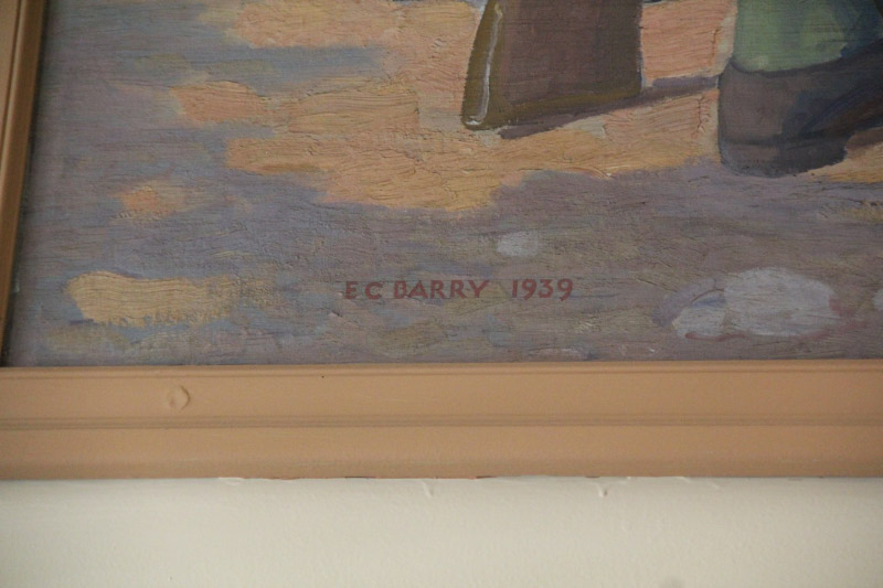 E. C. Barry Artist's Signature