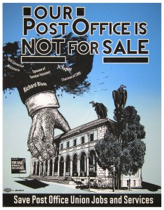 Our Post Office Is Not For Sale Poster by Jos Sances and Art Hazelwood