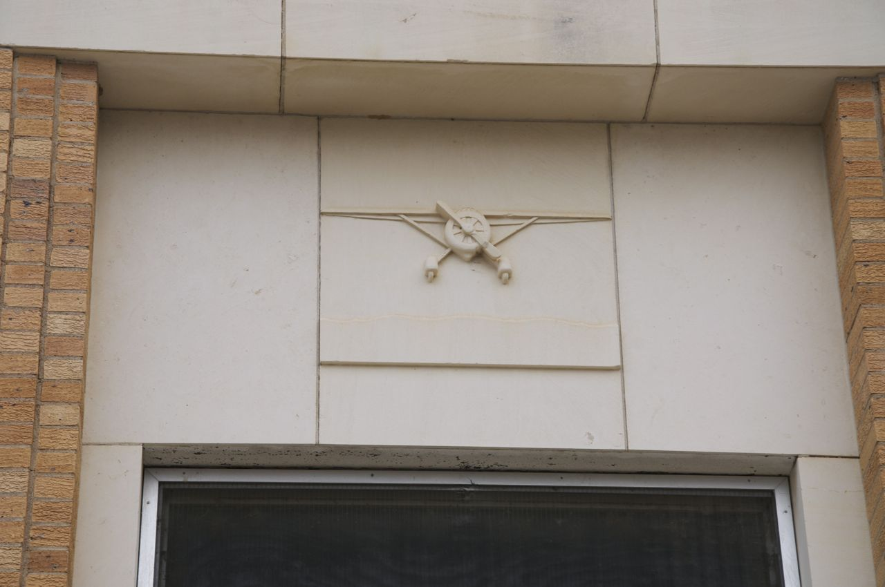 Airplane bas-relief