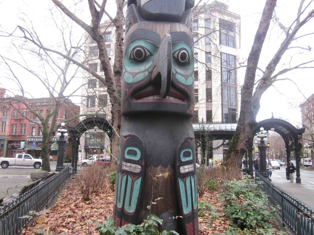 Pioneer square totem pole seattle wa living new deal