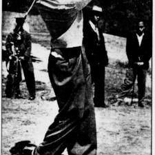 Boxer Joe Louis at Langston Golf Course, 1941