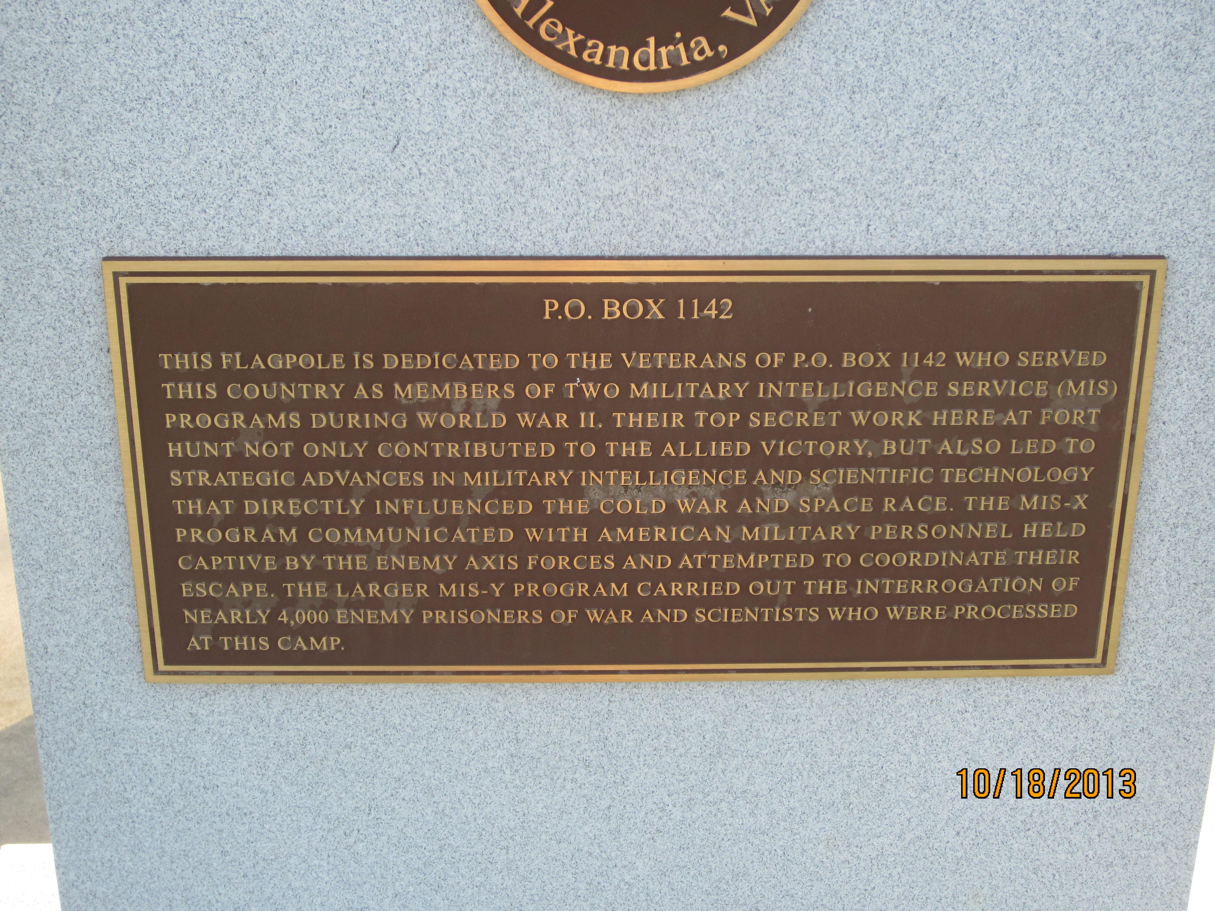 Commemorative Marker,Fort Hunt Park