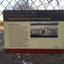 Historic Plaque, Langston Golf Course - Washington DC