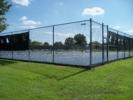 Tennis courts next to parking lot, East Potomac Park - Washington DC