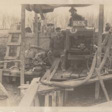 CCC Crews working on lake excavation,Fort Hunt Park