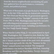 Panel on gatherings atMeridian Hill Park - Washington DC