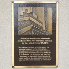 FDR dedication plaque, Bldg 1, NIH - Bethesda MD