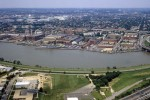 Aerial view, Washington Navy Yard - Washington DC