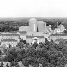 Aerial of NIH campus, 1950s - Bethesda MD