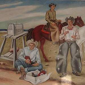 """""""Cowboys Receiving the Mail"""""""