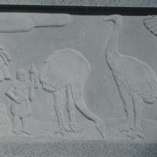Fulda/Mortellito moasrelief, Bird House, National Zoo - Washington DC