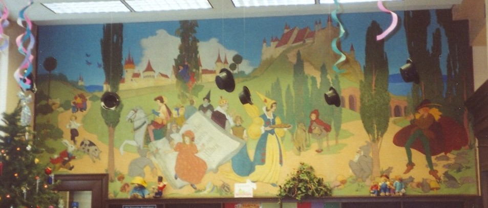 East lake branch library mural birmingham al living for Fairy tale mural