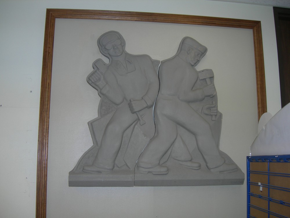 Post Office Bas Relief - Bedford IN - Living New Deal