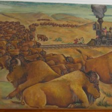 """""""Stampeding Buffaloes Stopping the Train"""""""
