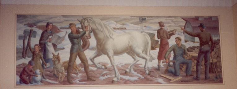 """""""Arrival of the Rural Mail"""""""