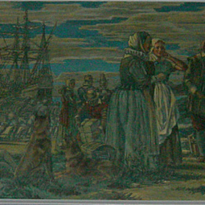 """The Arrival of the First White Women at Jamestown"""