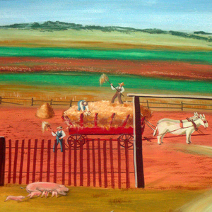 """Farm Scene with Senator Bankhead"""