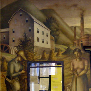 Post Office: Clarence Carter Mural - Portsmouth OH - Living