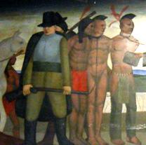 """John Eliot Speaks to the Natick Indians"""