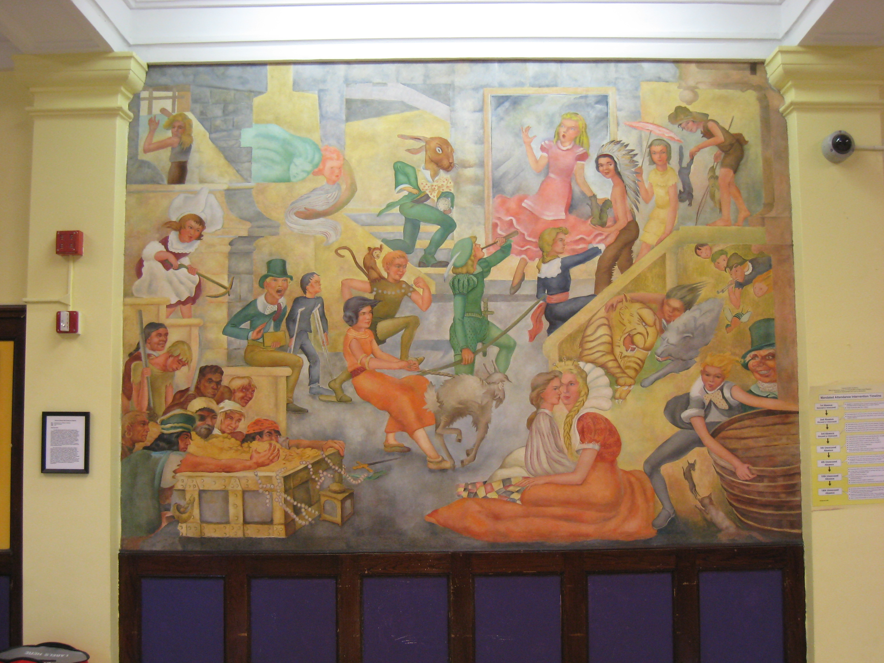 Bateman school mural chicago il living new deal for Mural in chicago illinois