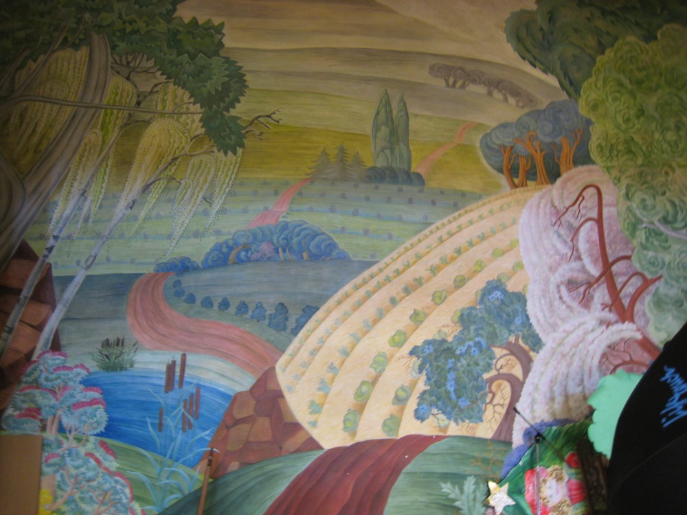 Bateman school decorative landscape mural chicago il for Chicago mural project
