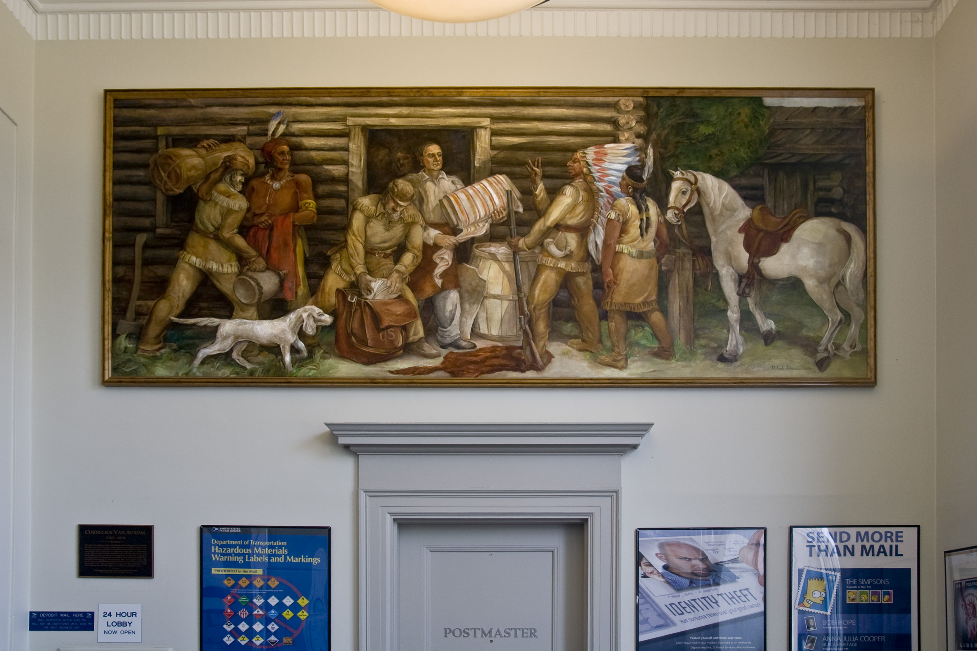 Post Office Mural - Eaton OH - Living New Deal