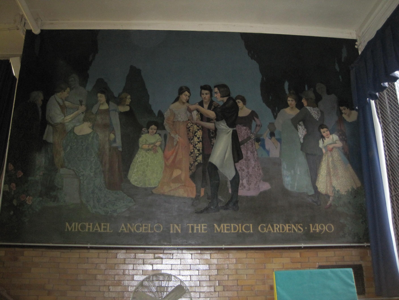 """""""Michelangelo in the Medici Gardens, 1490"""""""