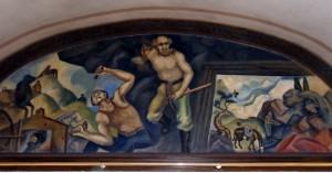 "Mural: ""Hard Rock Miners"""