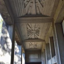 Ceiling carvings, exterior corridor, Woodminster amphitheater - Oakland CA