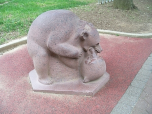 Tumbling Bears sculpture, National Zoo - Washington DC