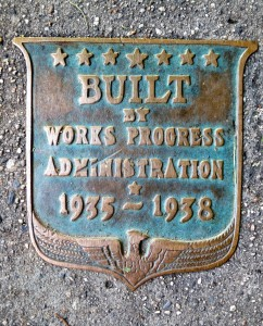 Angell St. WPA Plaque