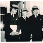 Frank Walker with Harold Ickes and Harry Hopkins