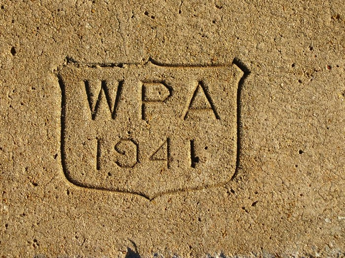 Wpa Sidewalk Stamp 3 Memorial Park