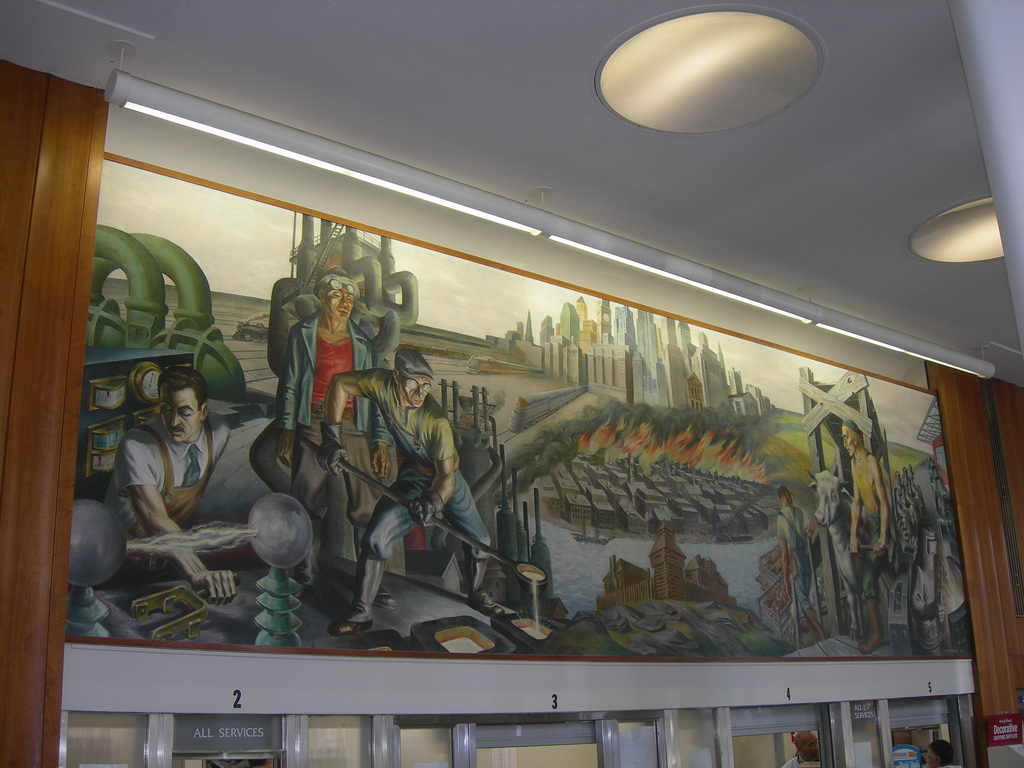 Lakeview post office mural chicago il living new deal for Mural in chicago illinois