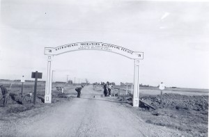 1938 Sacramento Migratory Waterfowl Refuge entrance