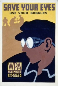 Save Your Eyes WPA Poster