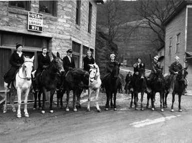 Pack Horse Librarians, Mounted