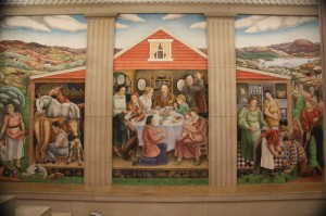 """Right panels, Biddle, """"Society Freed Through Justice,"""" Dept of Justice - Washington DC"""