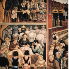 """Left panels, Biddle, """"Society Freed Through Justice,"""" Dept of Justice - Washington DC"""