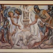 """Sterne mural, """"Greed"""", Dept of Justice - Washington DC"""