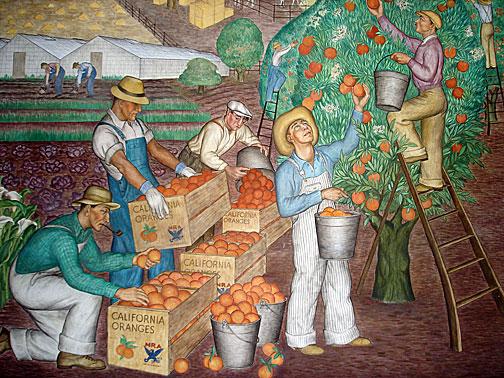 Famed coit tower murals restored living new deal for California mural