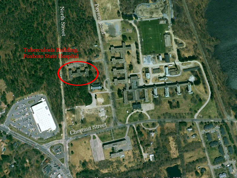 Foxboro State Hospital: Tuberculosis Building (demolished) - Foxboro on
