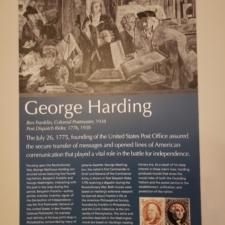 Information panel, George Harding murals, Clinton Building - Washington DC