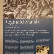 Information panel for Marsh murals, Clinton Building - Washington DC
