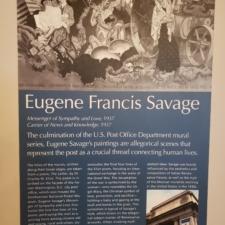 Information panel for Eugene Savage murals, Clinton Building - Washington DC