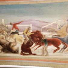 "Detail of Mechau, ""Pony Express"", Clinton Building - Washington DC"